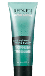 mint rush hair & body wash