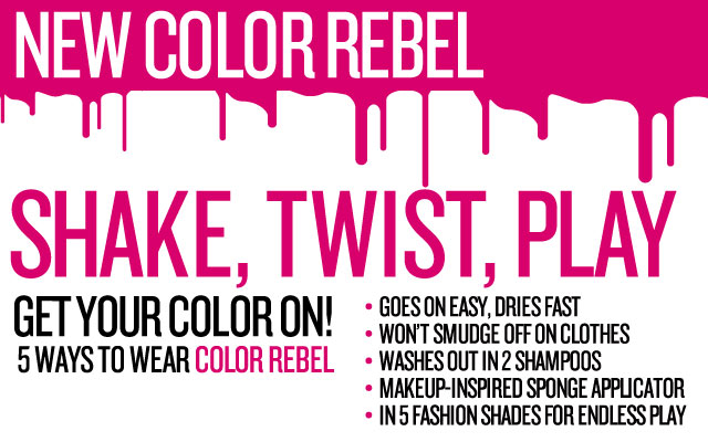 Shake,Twist, Play: New Color Rebel Hair Makeup