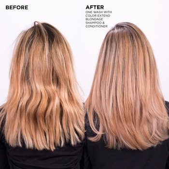 Redken Blondage Shampoo and Conditioner Before After Dark Blonde Hair