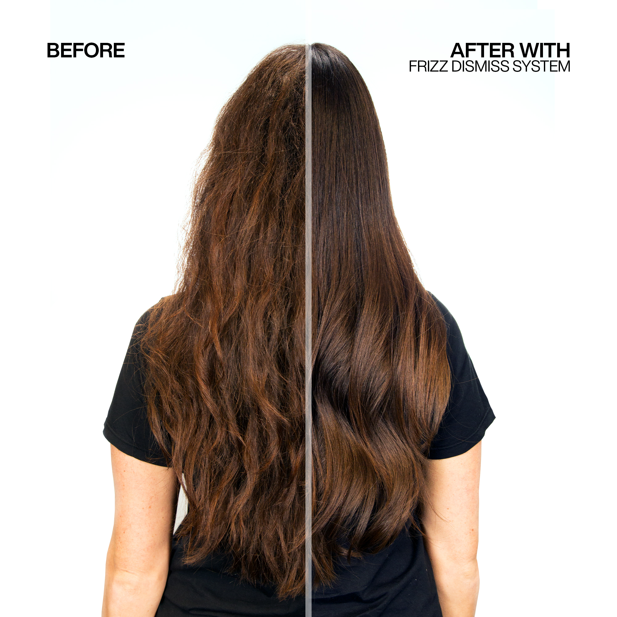 FRIZZ DISMISS before after 1