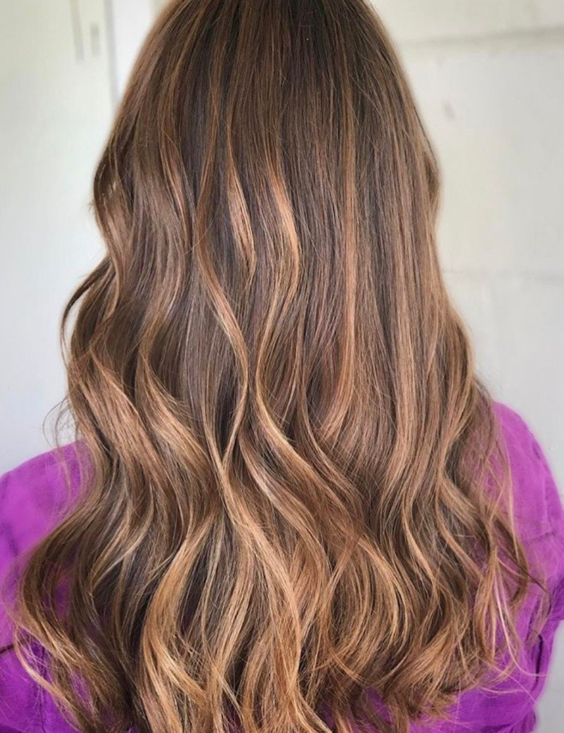 Balayage Haircolor on Brown hair