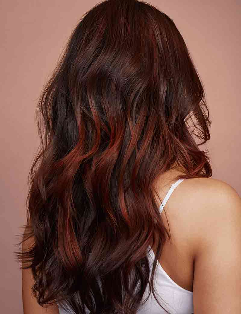 Brown Hair With Red Balayage Redken