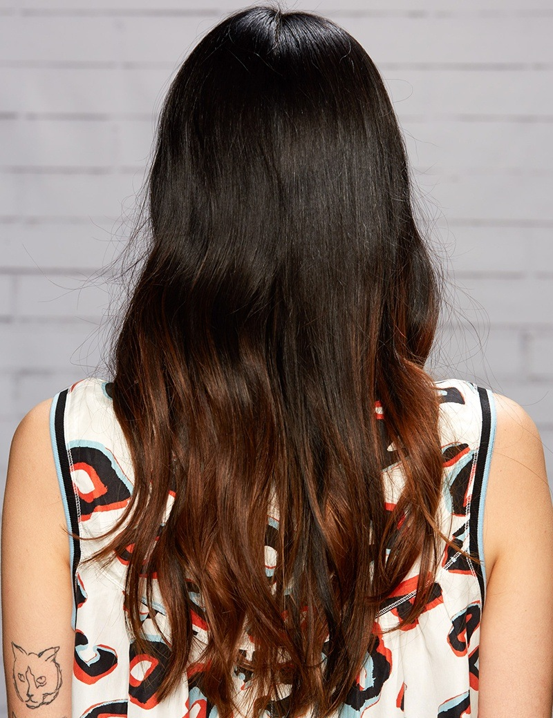 Ombre, Brunette, dark brown haircolor