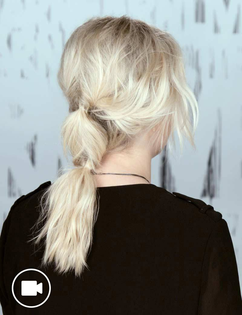 Festival Hairstyle Inverted Ponytail
