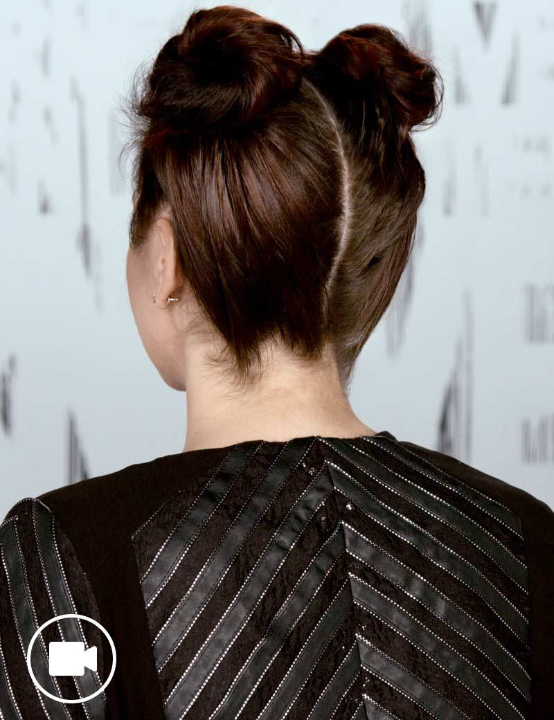 Festival Hairstyle Topknot Buns