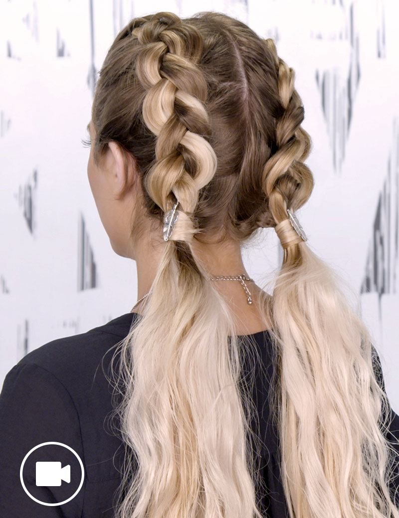 Double Dutch Braids Hair Style for Women