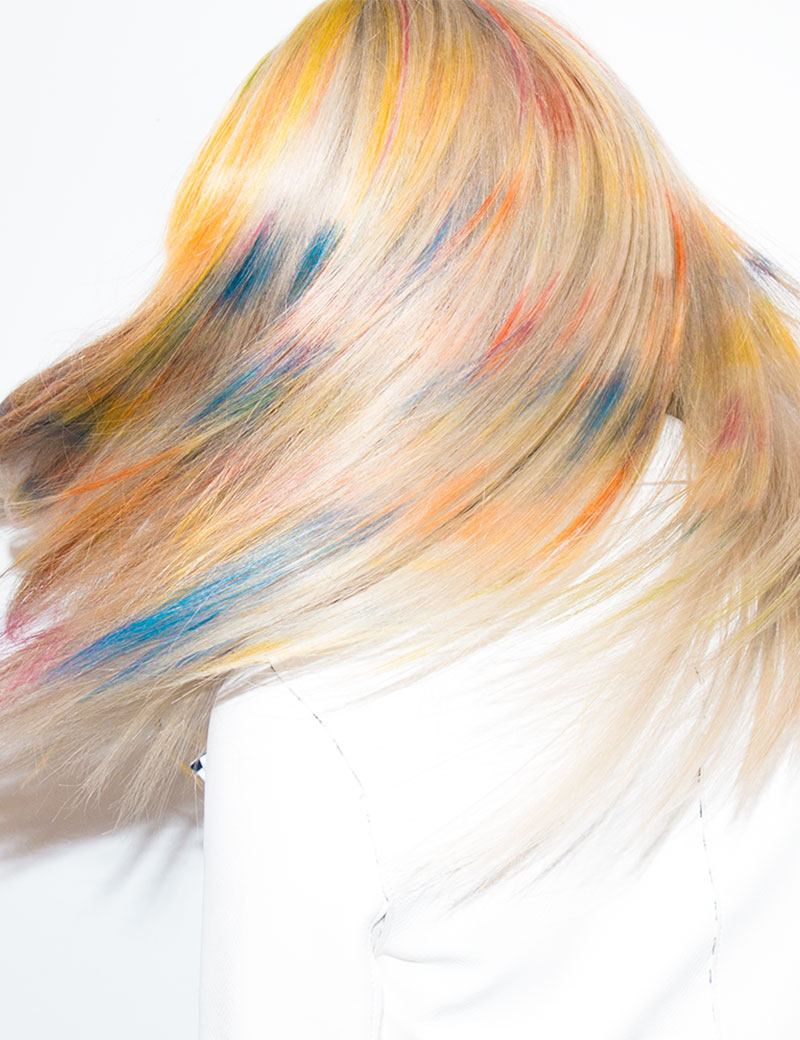 Redken Muse Chloe Norsgaard with Rainbow Blonde Haircolor