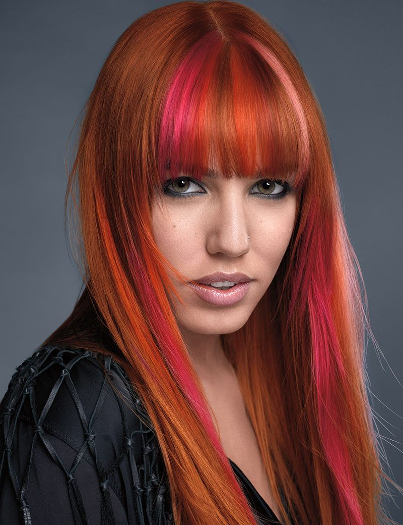 Redken Muse Amber Le Bon wearing Sunset Edge Hair