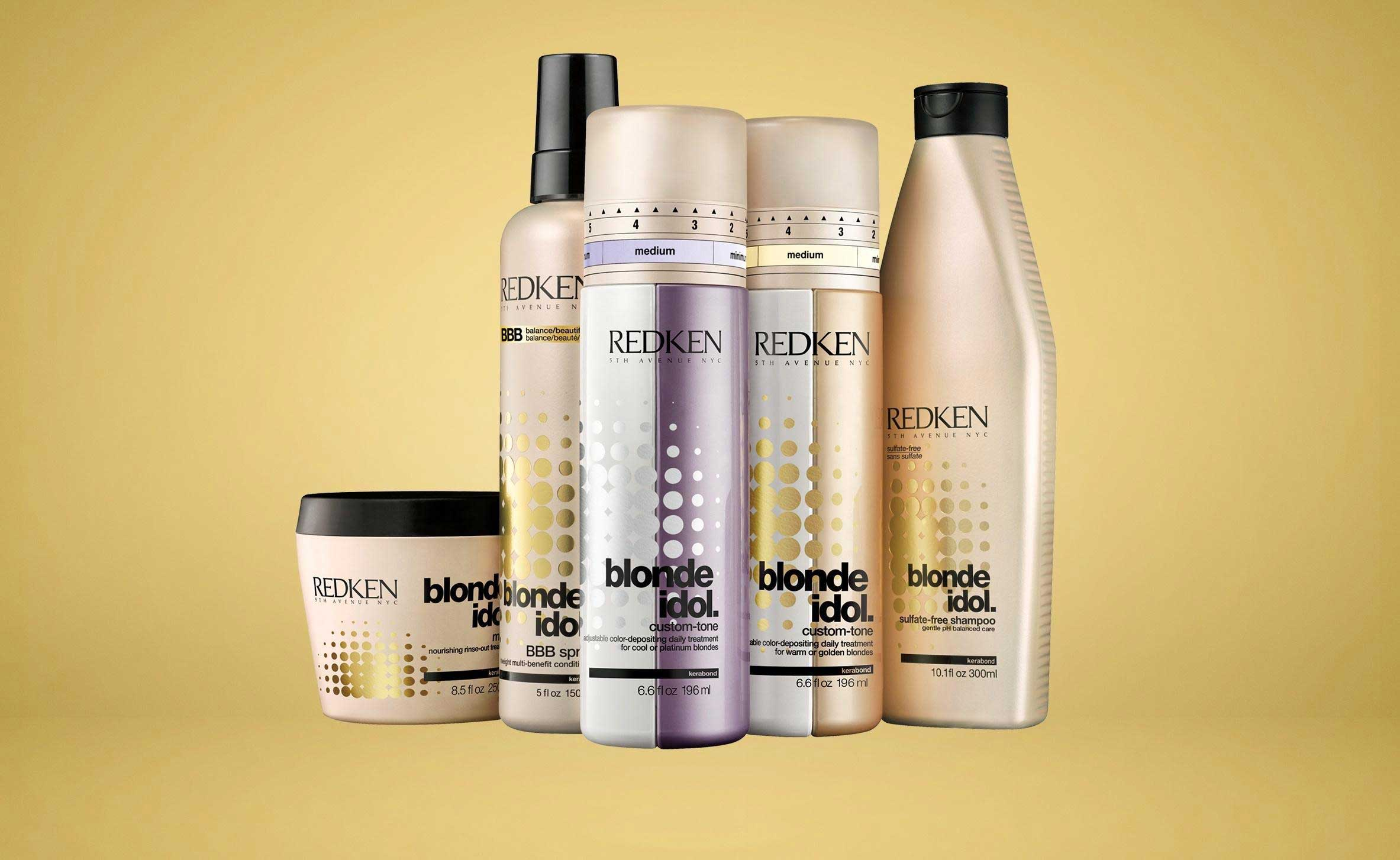 Blonde idol blonde colored hair haircare products redken for Salon redken