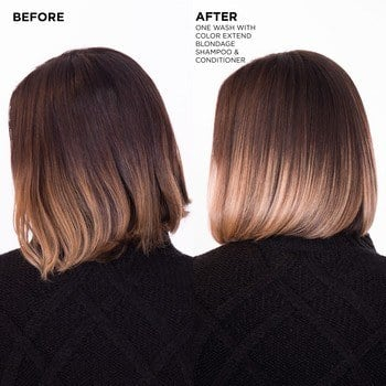 Redken Blondage Shampoo and Conditioner Before After Ombre Haircolor