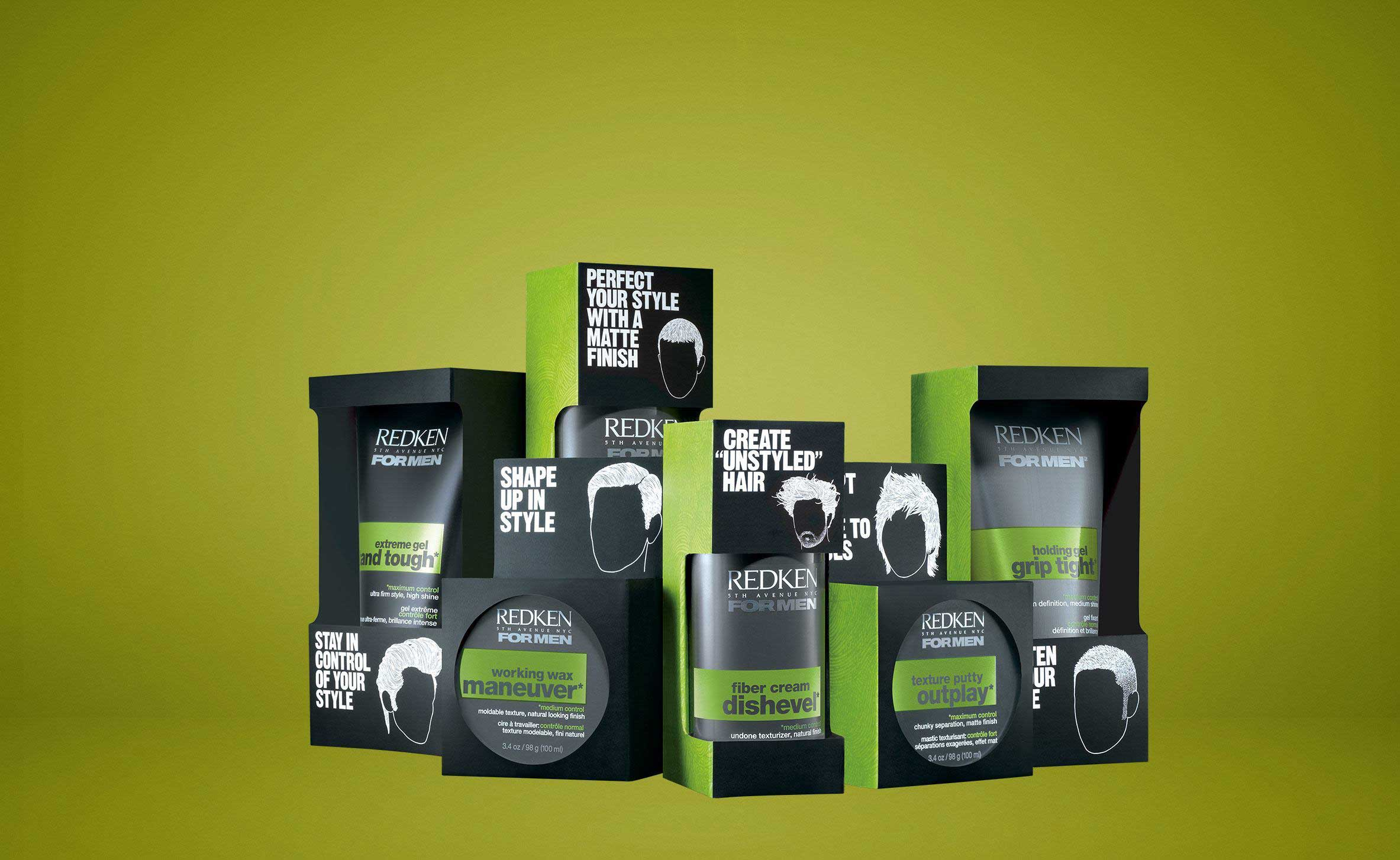 Redken Professional Hair Styling Products For Men