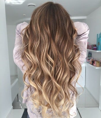 Light Brown Hair And Blonde Balayage Highlights