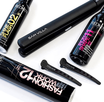 Hair straighteners pair perfectly with heat styling products and hairspray