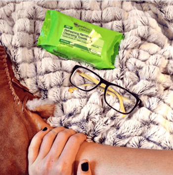 Makeup wipes are perfect for taking off your makeup at the end of the day.