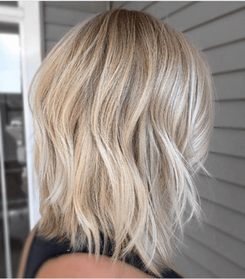 Blonde model with highlights