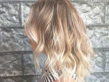 Blonde balayage high up