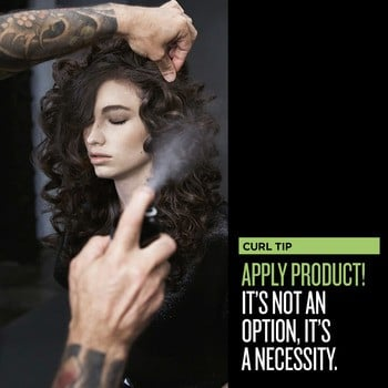 Lock down your curls by using curl-friendly styling products.