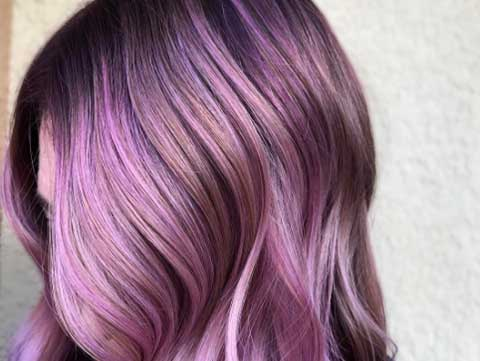 Multidimensional lilac haircolor
