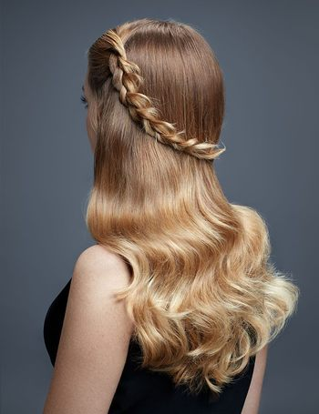 Golden blonde hair is perfect for spring.