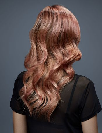 Rose gold hair is here to stay this spring.