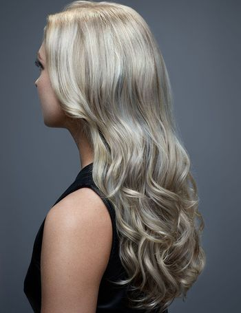 Icy blonde hair never goes out of style.