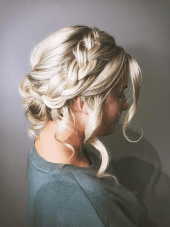 The gorgeous texture of this halo-braid makes it easy to pull off a lived-in look.