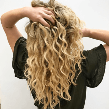 Fight off frizz by using products that help to nourish and moisturize your hair.