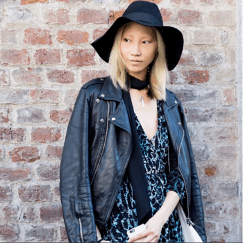 Redken muse, model and trendsetter, Soo Joo Park in a hat