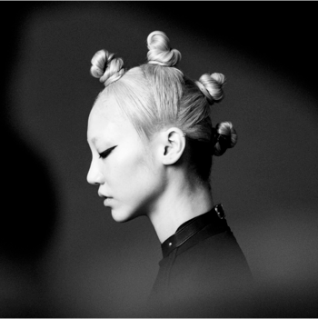 Redken muse, model and trendsetter, Soo Joo Park with bantu knots