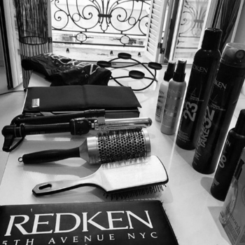 Hair stylist essentials at the salon