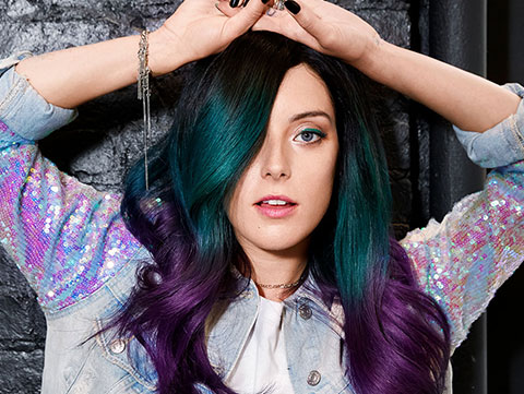 Festival haircolor worn by Redken Muse Chloe Norgaard.