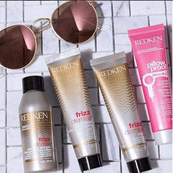From dinner to drinks and beyond, keep frizz at bay by stashing a travel size serum in your purse.