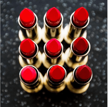 Red lipstick is always a girl's best friend.