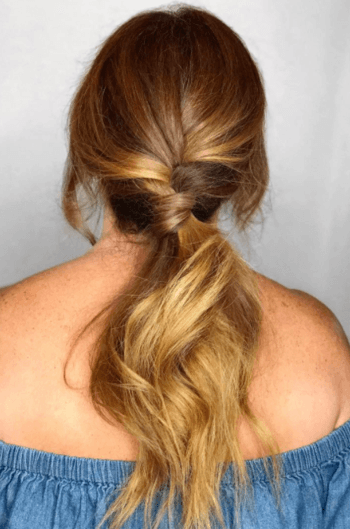 Twisted Ponytail Greasy Hair Ideas
