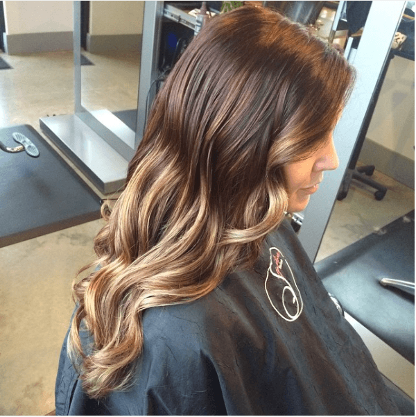 Brown lowlights balayage