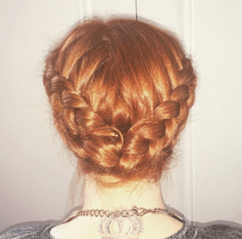 Elegant updo hairstyle created by Redken Artist, George Norwood