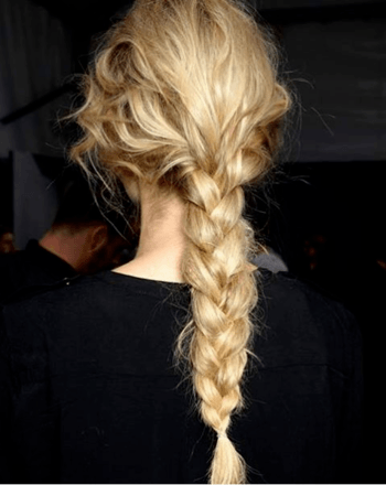 Textured braid created by Redken Global Creative Director, Guido Palau