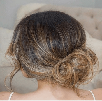 Effortless holiday updo hairstyle