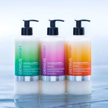 Genius Wash helps to cleanse and moisturize the hair