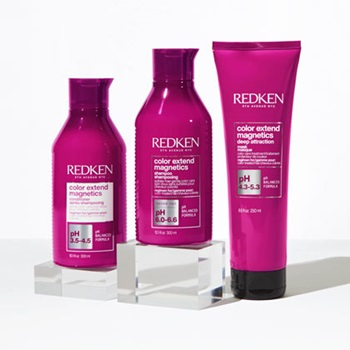 Redken's Color Extend Magnetics is free of sulfates to make sure that haircolor stays vibrant and healthy.