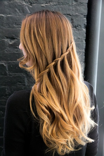 Redken artist Marco Arena says that the key to a perfect waterfall braid is practice!