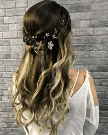 Accessories are perfecting for amping up a festival hair look.