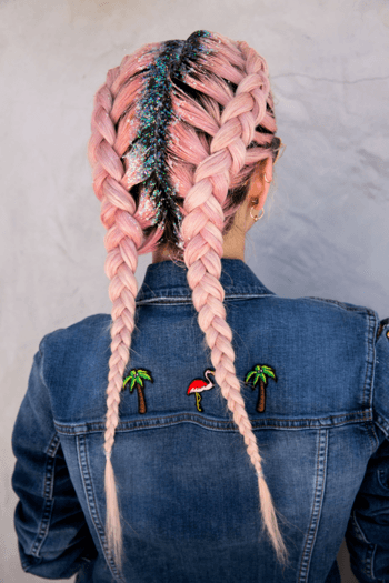 Use boxer braids to create a spin on traditional double dutch braids.