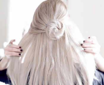 For days when your hair is feeling a bit boring, add a mini bun.
