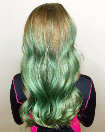 Copper roots blend beautifully into this green mermaid variation.