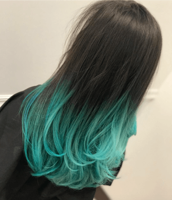 An ombré technique offers a mermaid look that requires minimal upkeep.