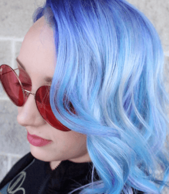 Opt for powder blue pastel hair when channeling the mermaid look.