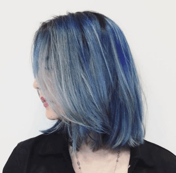 Smoked-out blue takes the mermaid trend to new heights.
