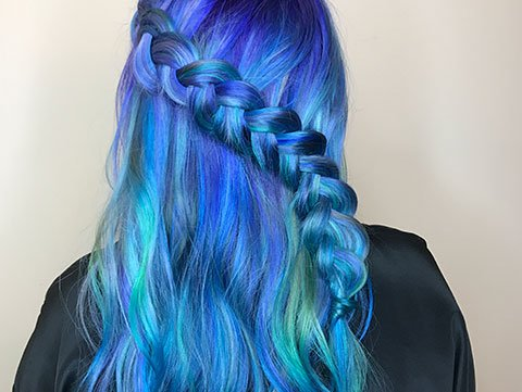 Pastel And Neon Hair Colors In Balayage Ombre Metallic Rainbow