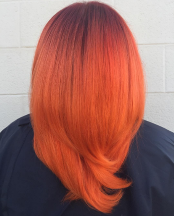 Bright orange hair is a great way to show off your fiery side.